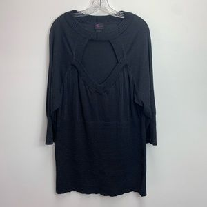 PLUS SIZE TORRID SPARKLY PEEK-A-BOO SWEATER SIZE 4